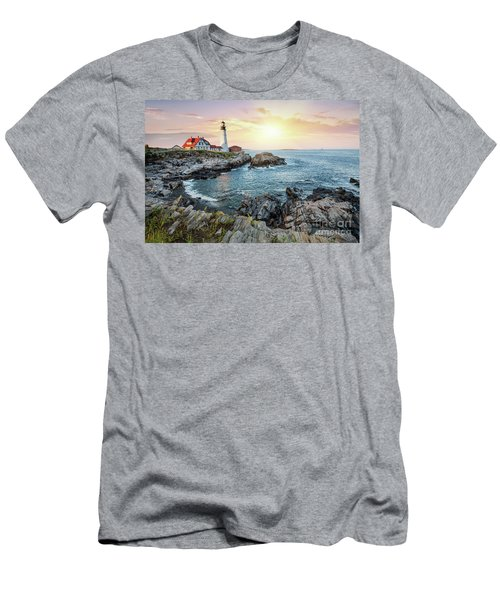 Portland Head Light At Dusk Men's T-Shirt (Athletic Fit)