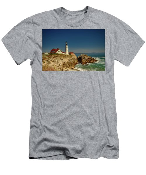 Portland Head Lighthouse 2 Men's T-Shirt (Slim Fit) by Sherman Perry