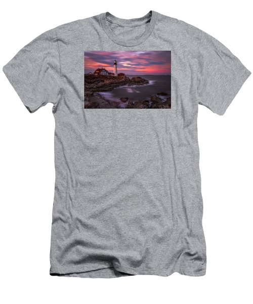 Portland Head Sunset Men's T-Shirt (Athletic Fit)
