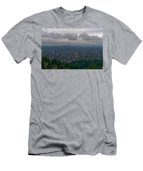Portland Overlook Men's T-Shirt (Slim Fit) by Jonathan Davison