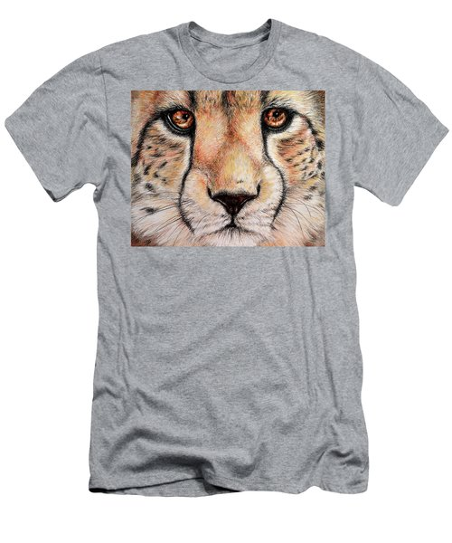 Portrait Of A Cheetah Men's T-Shirt (Slim Fit) by Heidi Kriel