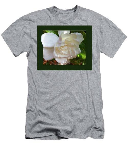 Portrait Of A Gardenia Men's T-Shirt (Slim Fit) by Ginny Schmidt