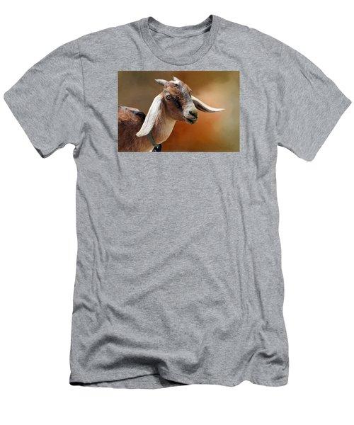 Portrait Of A Goat Men's T-Shirt (Athletic Fit)