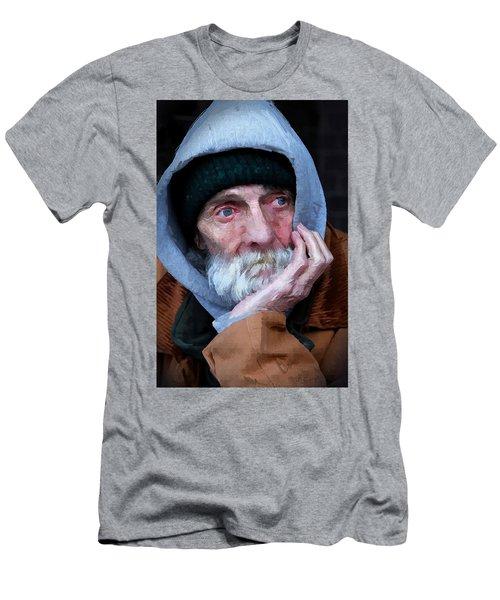 Portrait Of A Homeless Man Men's T-Shirt (Athletic Fit)