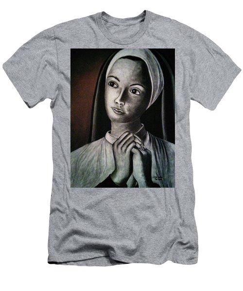 Portrait Of A Nun Men's T-Shirt (Athletic Fit)