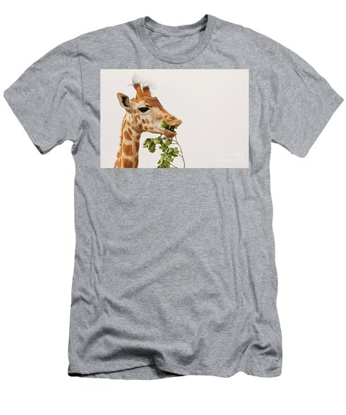 Men's T-Shirt (Athletic Fit) featuring the photograph Portrait Of A Rothschild Giraffe IIi by Nick Biemans