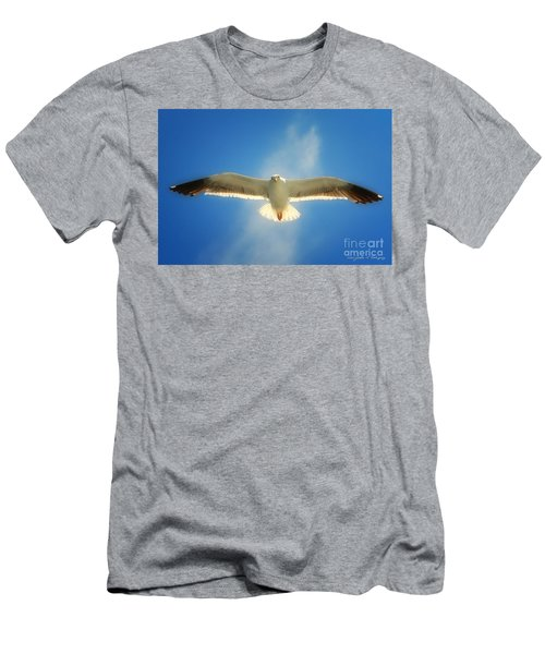 Portrait Of A Seagull Men's T-Shirt (Athletic Fit)