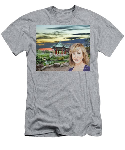 Portrait Of Jamie Colby By The Pagoda In Golden Gate Park Men's T-Shirt (Athletic Fit)