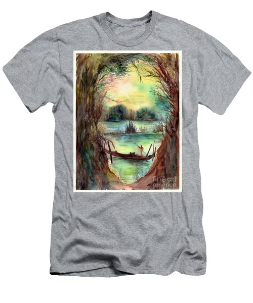 Portrait With A Boat Men's T-Shirt (Athletic Fit)
