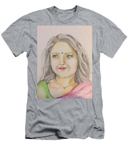 Portrait With Colorpencils 2 Men's T-Shirt (Athletic Fit)