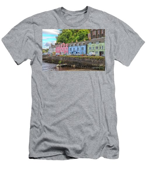 Portree Town On Skye, Scotland Men's T-Shirt (Athletic Fit)