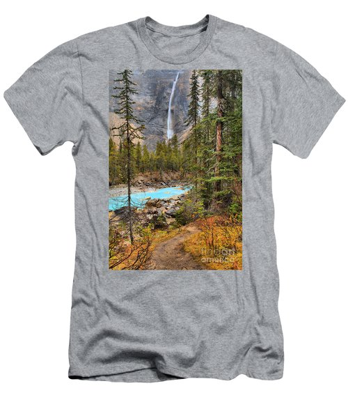Men's T-Shirt (Slim Fit) featuring the photograph Portrait Of Takakkaw Falls by Adam Jewell