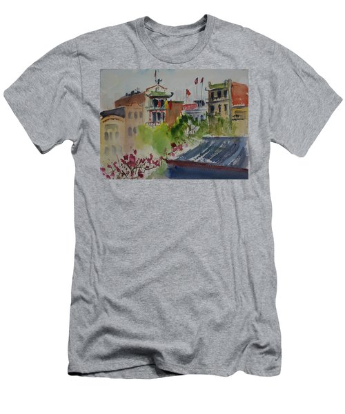 Portsmouth Square1 Men's T-Shirt (Slim Fit) by Tom Simmons