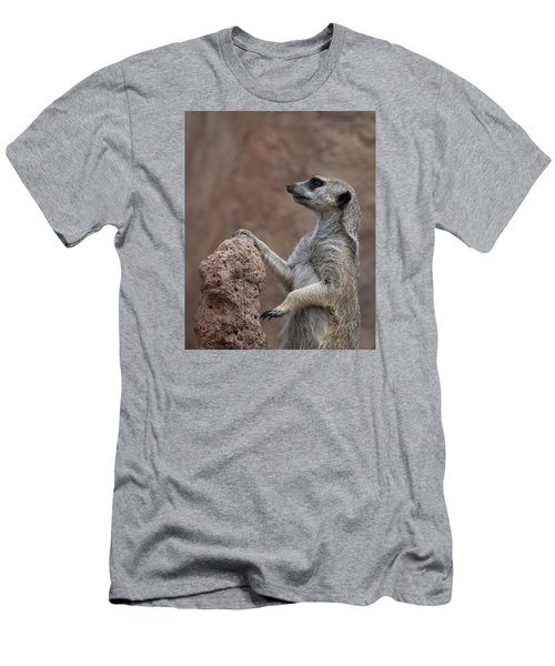 Pose Of The Meerkat Men's T-Shirt (Slim Fit) by Ernie Echols