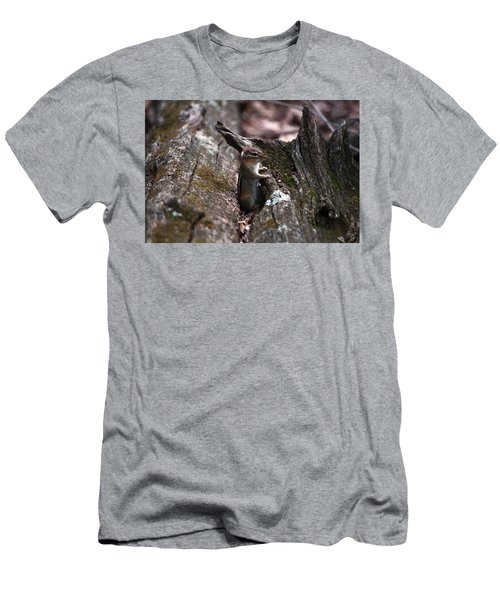 Men's T-Shirt (Slim Fit) featuring the photograph Posing #1 by Jeff Severson