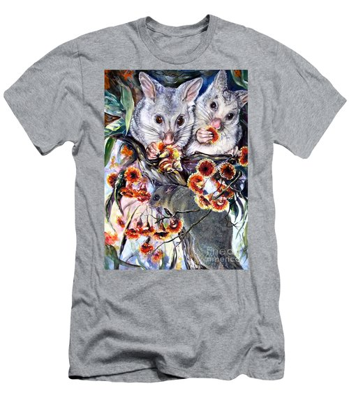 Men's T-Shirt (Athletic Fit) featuring the painting Possum Family by Ryn Shell