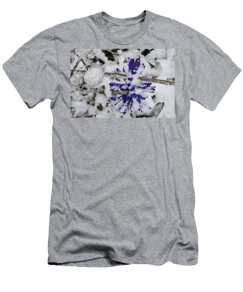 Men's T-Shirt (Slim Fit) featuring the photograph Powder-covered Hyacinth by Deborah Smolinske