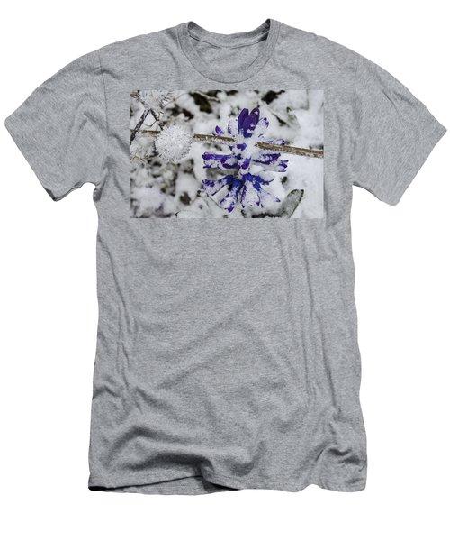Powder-covered Hyacinth Men's T-Shirt (Slim Fit) by Deborah Smolinske