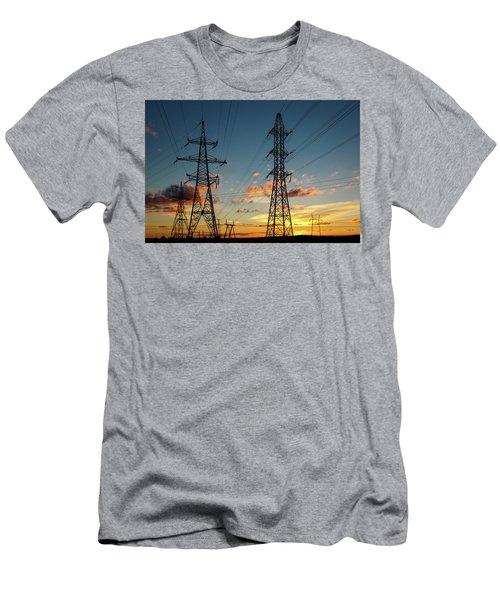 Power Cables Men's T-Shirt (Athletic Fit)