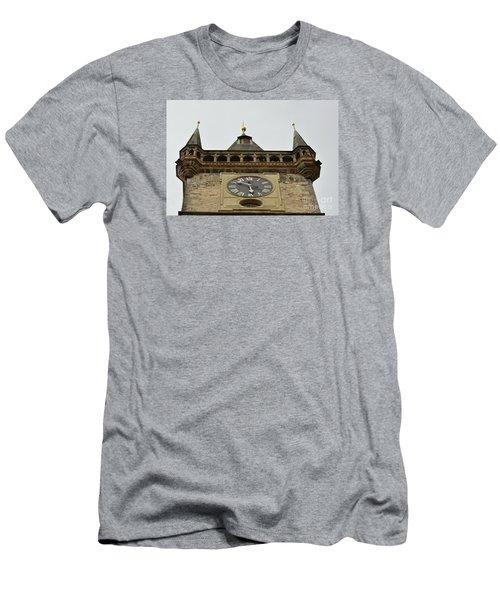 Men's T-Shirt (Slim Fit) featuring the digital art Prague-architecture 2 by Leo Symon