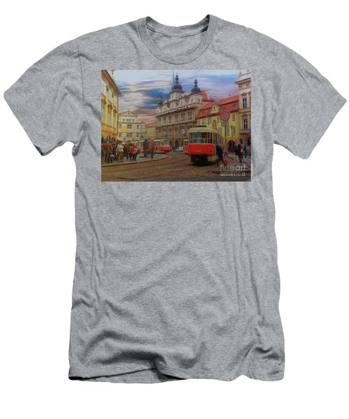 Prague, Old Town, Street Scene Men's T-Shirt (Athletic Fit)