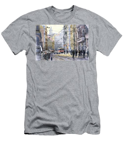 Prague Vodickova Str Men's T-Shirt (Athletic Fit)