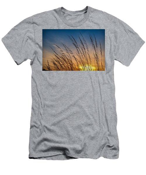 Prairie Grass Sunset Men's T-Shirt (Athletic Fit)