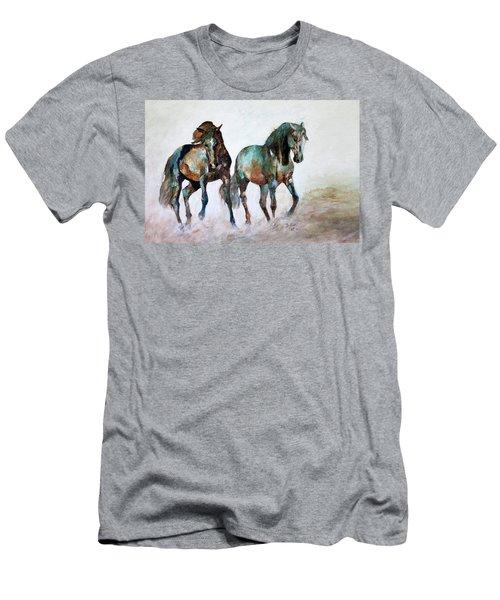 Prairie Horse Dance Men's T-Shirt (Athletic Fit)