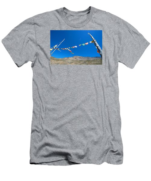 Men's T-Shirt (Athletic Fit) featuring the photograph Prayer Flag by Yew Kwang