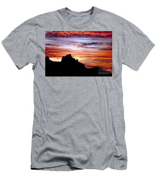 Praying Monk, Camelback Mountain, Phoenix Arizona Men's T-Shirt (Athletic Fit)