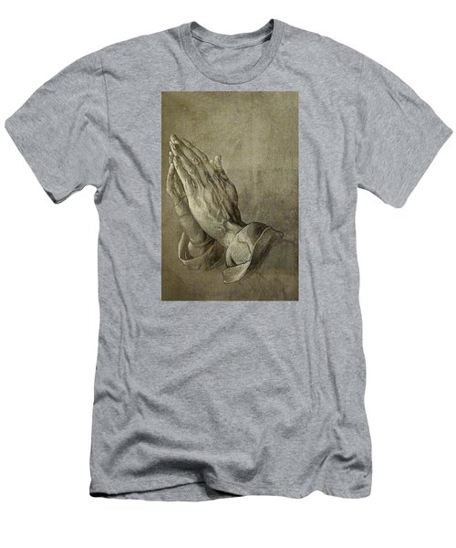 Praying Hands Men's T-Shirt (Slim Fit) by Troy Caperton