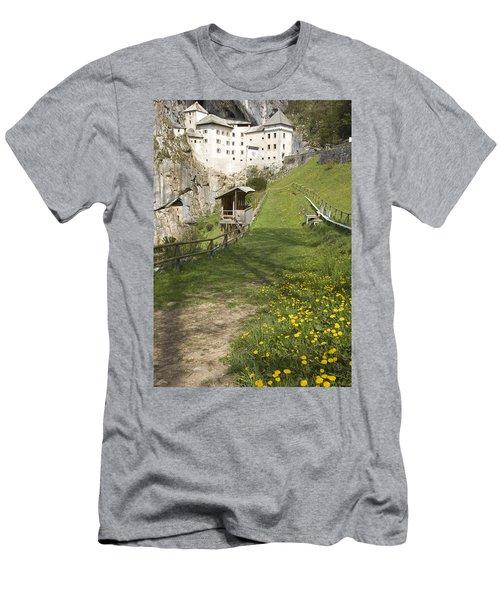Predjama Castle Men's T-Shirt (Athletic Fit)