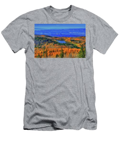 Prelude In Gold And Blue Men's T-Shirt (Athletic Fit)