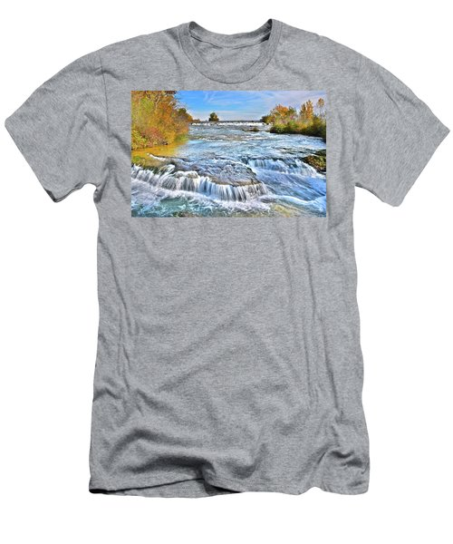 Men's T-Shirt (Slim Fit) featuring the photograph Preparing For The Big Fall by Frozen in Time Fine Art Photography