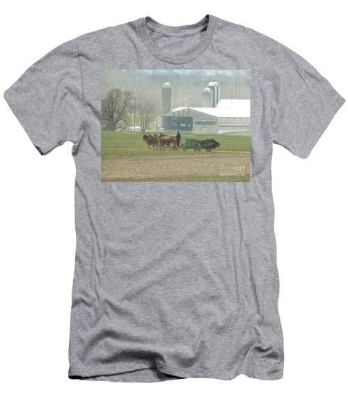 Preparing The Field-two Men's T-Shirt (Athletic Fit)
