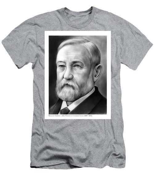 President Benjamin Harrison Men's T-Shirt (Athletic Fit)