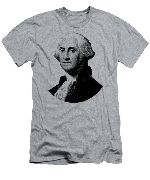 President George Washington Graphic - Black And White Men's T-Shirt (Slim Fit) by War Is Hell Store
