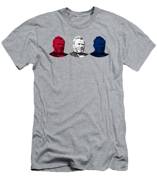 President Grant Red White And Blue Men's T-Shirt (Athletic Fit)