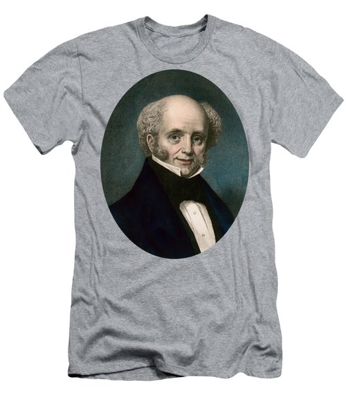President Martin Van Buren - Vintage Color Portrait Men's T-Shirt (Athletic Fit)