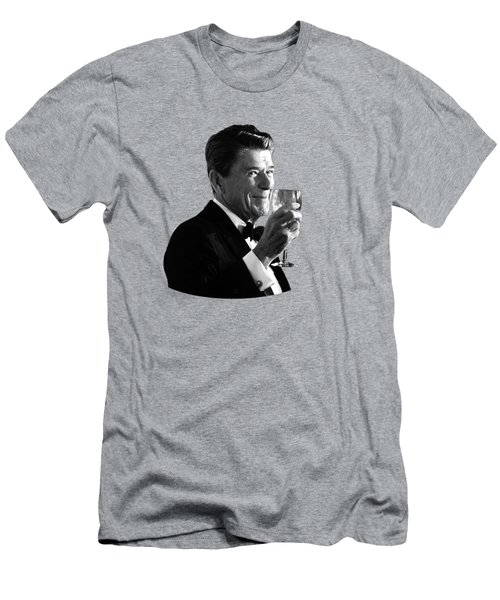 President Reagan Making A Toast Men's T-Shirt (Athletic Fit)