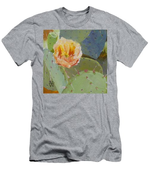 Prickly Pear Blossom Men's T-Shirt (Slim Fit) by Susan Woodward