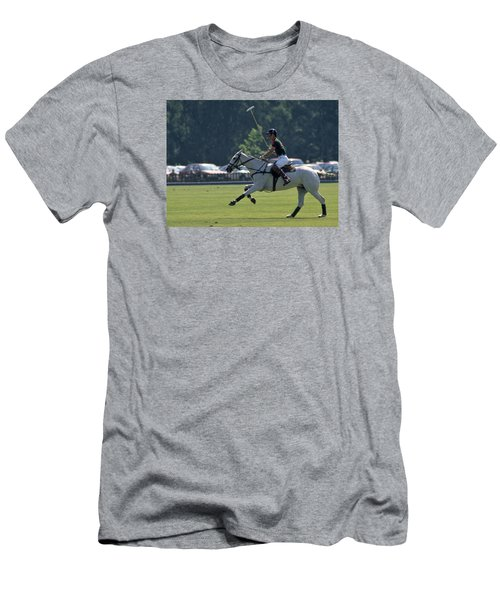 Prince Charles Playing Polo At Windsor Men's T-Shirt (Athletic Fit)
