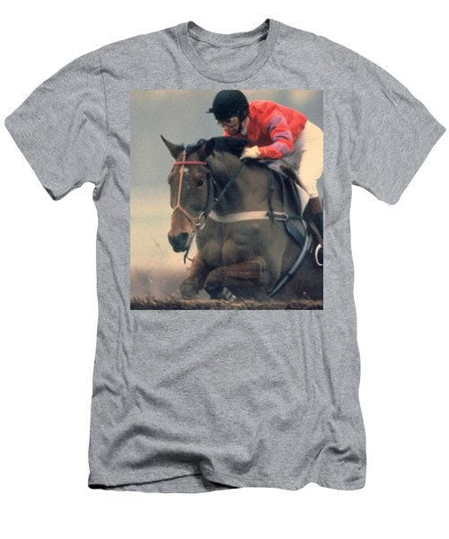 Princess Anne Riding Cnoc Na Cuille At Kempten Park Men's T-Shirt (Athletic Fit)
