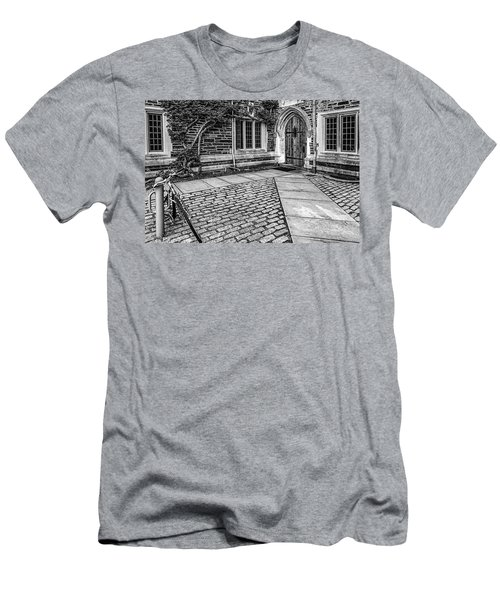 Men's T-Shirt (Slim Fit) featuring the photograph Princeton University Foulke Hall Bw by Susan Candelario