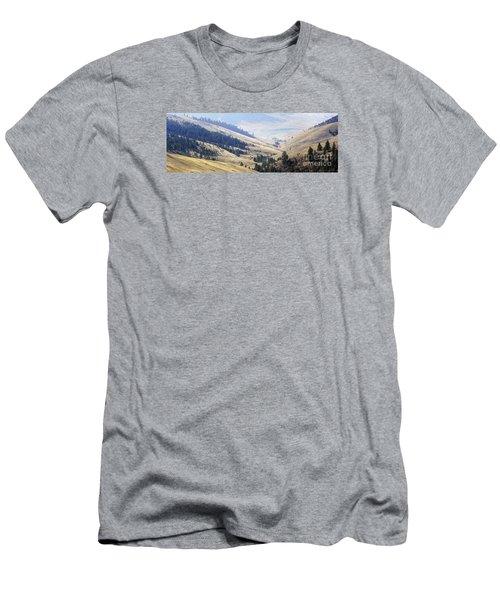 Pristine Panorama- National Bison Range, Montana Men's T-Shirt (Slim Fit) by Janie Johnson