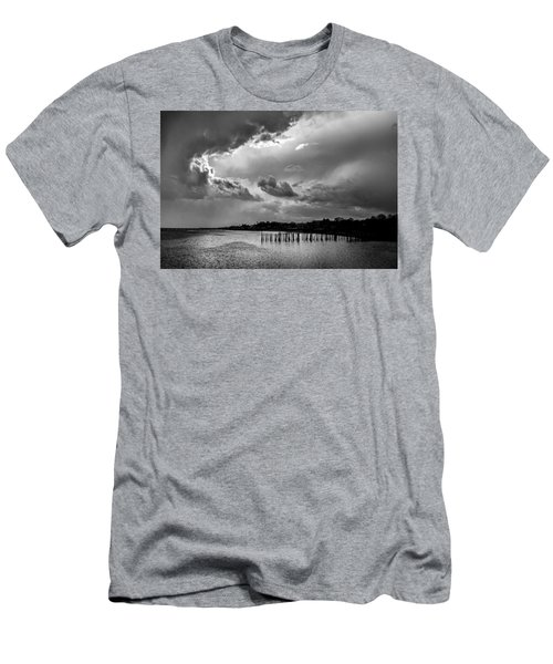 Men's T-Shirt (Athletic Fit) featuring the photograph Provincetown Storm by Charles Harden