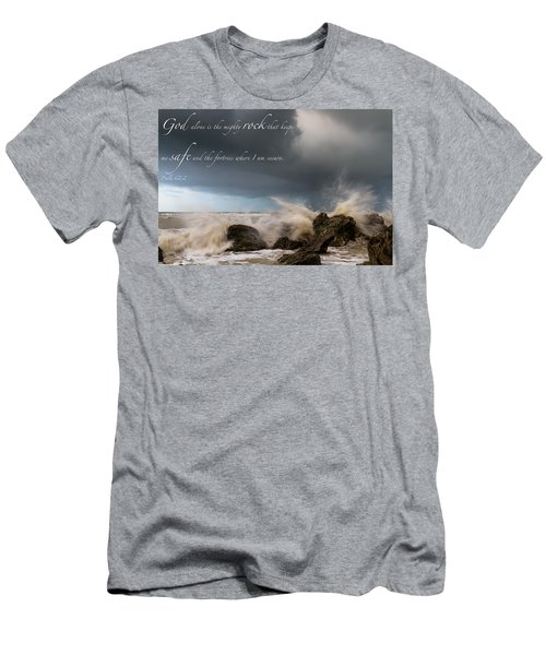 Psalm 62 2 Men's T-Shirt (Athletic Fit)