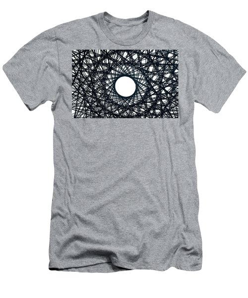 Psychedelic Concentric Circle Men's T-Shirt (Athletic Fit)
