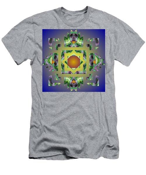 Psychedelic Mandala 002 A Men's T-Shirt (Slim Fit) by Larry Capra