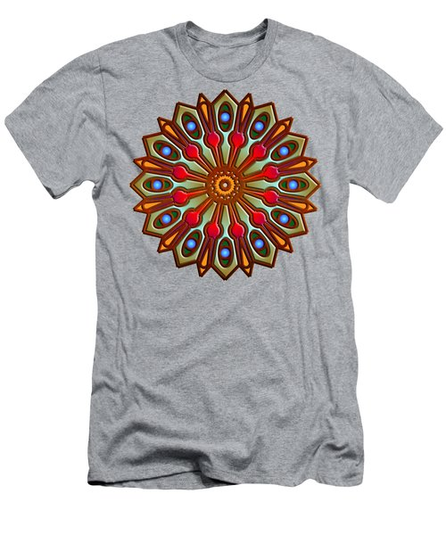 Psychedelic Mandala 012 A Men's T-Shirt (Slim Fit) by Larry Capra